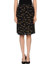 D&G Knee Length Skirt - Lyst