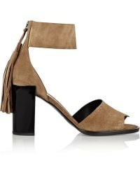 Pierre Hardy Fringed Suede Sandals - Lyst