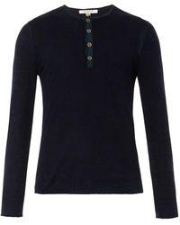 John Varvatos Silk and Cashmere-blend Top - Lyst