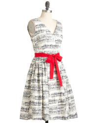 ModCloth In The Key Of Chic Dress - Lyst