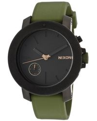 Nixon Womens The Raiderpursue Your Denstiny White Crystals Black Dial Black Rubber -a317- Watch - Lyst