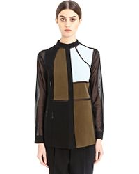 Vionnet New Season - Womens Patched Collarless Shirt - Lyst