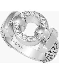 Lagos 'Enso - Circle Game' Diamond Caviar Ring - Lyst