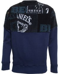 Martine Rose Cotton Sweatshirt with Beer Mat Towelling - Lyst