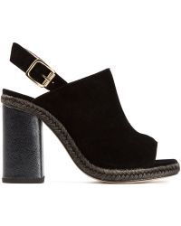 Opening Ceremony Chunky Heel Mules - Lyst