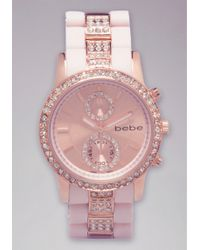 Bebe - Rhinestone Sports Watch - Lyst