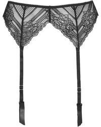 Topshop Black Lace Suspenders - Lyst