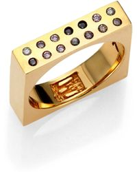 Kelly Wearstler Balla Perforated Square Ring - Lyst