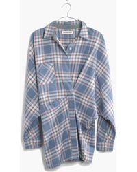 Madewell Rivet & Thread Flannel Tiltcatch Shirt In Hanna Plaid - Lyst