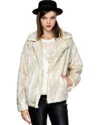 Pixie Market Max Faux Fur Coat - Lyst