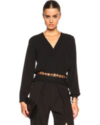 Yigal Azrouël Lace Paneled Top - Lyst