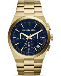 Michael Kors Men'S Gold-Tone Channing Chronograph Watch, 43Mm - Lyst