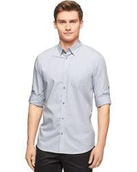 Calvin Klein Modern Fit Linear Check Dobby Sportshirt - Lyst