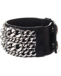 Balmain - Multichain Leather Cuff - Lyst