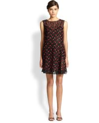 Marc Jacobs Asymmetrical Embroidered Tulle Shift - Lyst