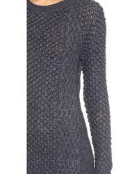 Jill Stuart Morgan Sweater Dress - Charcoal - Gray