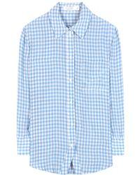 Altuzarra Gingham Shirt blue - Lyst
