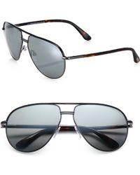 Tom Ford Cole Metal Aviator Sunglasses - Lyst