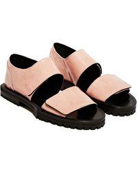 Achilles Ion Gabriel - Patent Strap Sandals - Lyst