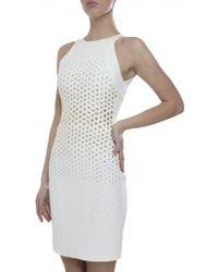 Versace Studded Pencil Dress - Lyst