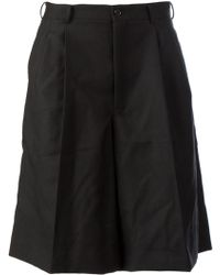 Comme Des Garçons Wide Leg Shorts - Lyst