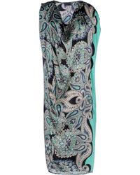 Lanvin Paisley Print Draped Dress - Lyst