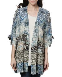 Sea Printed Kimono multicolor - Lyst