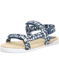 Tory Burch Leather Espadrille Sandals - Lyst
