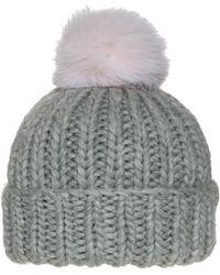Eugenia Kim | Exclusive Multi Knit Fur Pompom Rain Beanie | Lyst