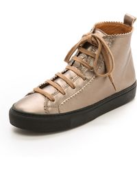 Rachel Comey - Pops High Top Trainers - Gold - Lyst