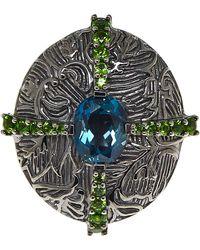 Stephen Dweck - Blue Criss Cross Ruthenium Ring - Lyst