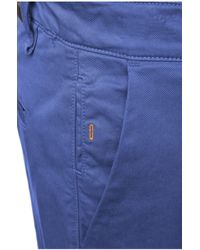 BOSS Orange Slim-fit Shorts In Stretch Cotton: 'schino-slim-shorts-d' - Blue