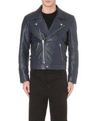McQ by Alexander McQueen Leather Biker Jacket - For Men - Lyst