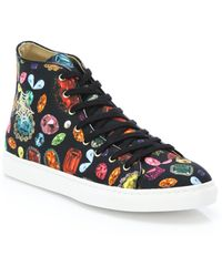 Charlotte Olympia   Jewel-print High-top Sneakers   Lyst