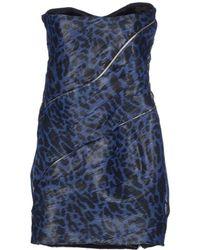Jay Ahr Short Dress blue - Lyst