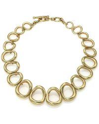 Vaubel Graduated Oval Link Collar Necklace - Lyst