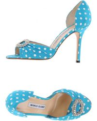 Manolo Blahnik Pump blue - Lyst