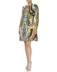 Monique Lhuillier Abstract Print Swing Dress - Lyst