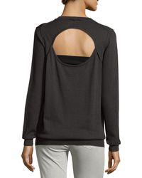 Haute Hippie Long-sleeve Cardigan W/back Cutout - Gray