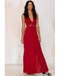 Wyldr All Wrapped Up Maxi Dress - Red