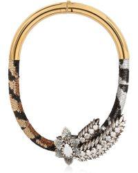 Shourouk Aigrette Tiger Necklace - Lyst