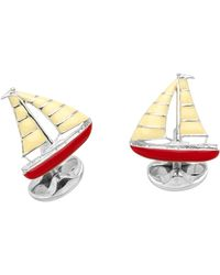 Deakin & Francis Sailboat Cuff Links - Lyst