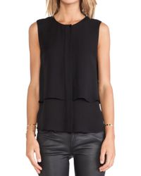 Theory Black Gentaire Tank - Lyst
