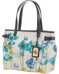 Lauren by Ralph Lauren Floral Canvas Shopper Tote - Lyst