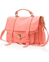 Proenza Schouler Ps1 Large Leather Satchel - Lyst