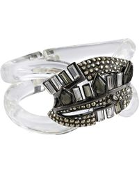 Alexis Bittar Cubist Banded Hinged Bracelet - Lyst