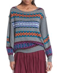 Plenty by Tracy Reese Slouchy Pullover Sweater - Multicolour