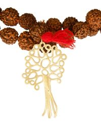 Zeus+Dione - Rudraksha Bead Gold-Plated Necklace - Lyst