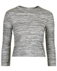 Topshop Space Dye Loungewear Sweater - Lyst