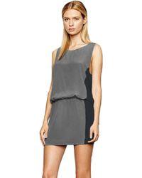 Addison Drop Waist Colorblock Dress - Lyst
